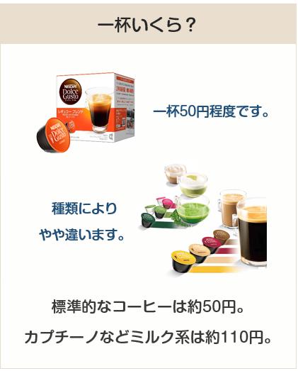カプセル式コーヒーマシンは一杯いくら?