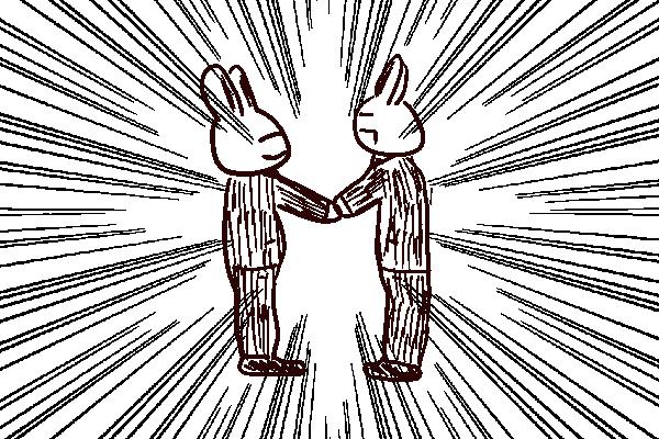 ヘッドハンターと握手