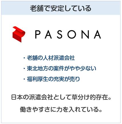 派遣会社の解説(パソナ)