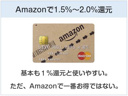 Amazon MastercardクラシックはAmazonで1.5%~2.0%還元