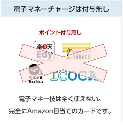 Amazon Mastercardクラシックは電子マネーチャージはポイント付与対象外