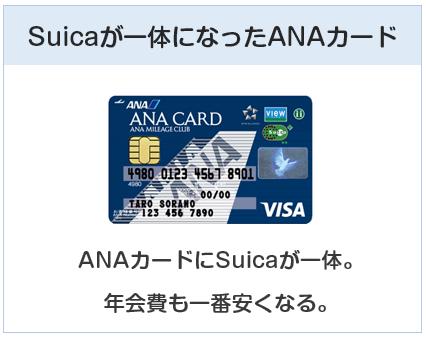ANA VISA SuicaカードはSuica一体型のANAカードです