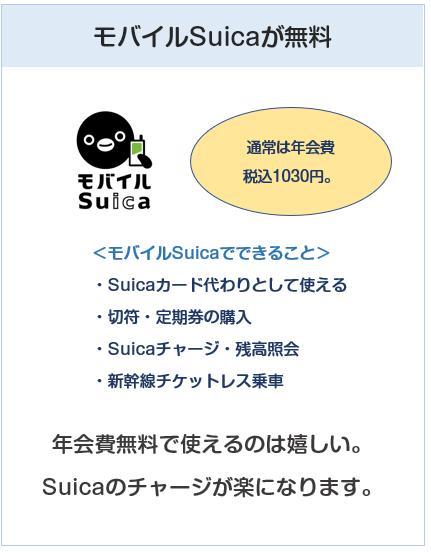 ANA VISA SuicaカードはモバイルSuicaの年会費が無料