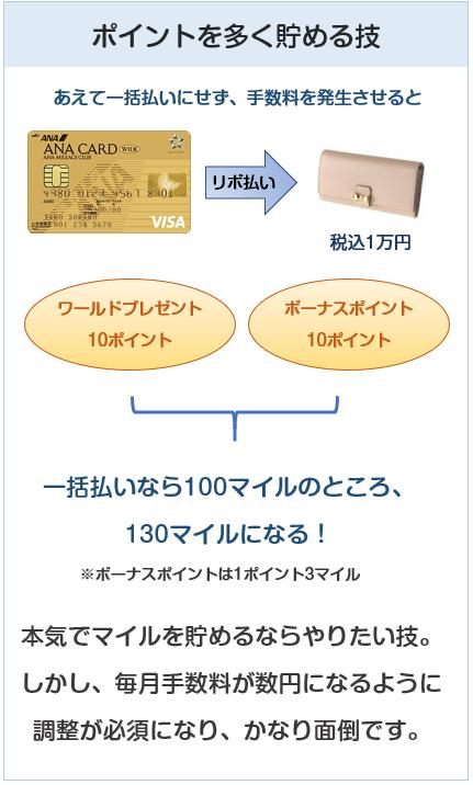 ANA VISAワイドゴールドカードのポイントを多く貯める方法