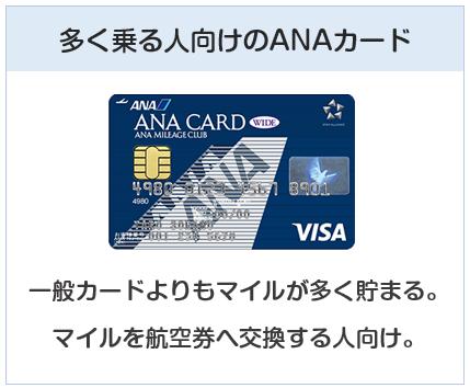 ANA VISAワイドカードは多く乗る人が持ちたいANAカード
