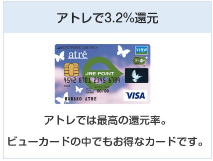 アトレビューSuicaカードはアトレで3.2%還元になるカード
