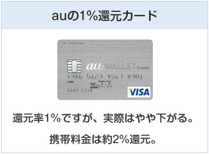 au WALLET クレジットカードはauの還元率1%のクレジットカード