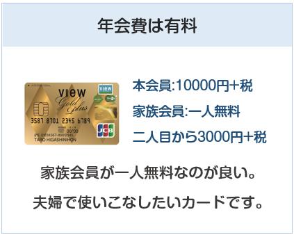 ビューゴールドプラスカードの年会費は有料