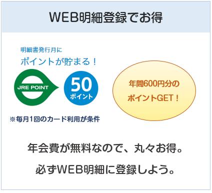 「ビュー・スイカ」リボカードはWEB明細登録で年間600円儲かる