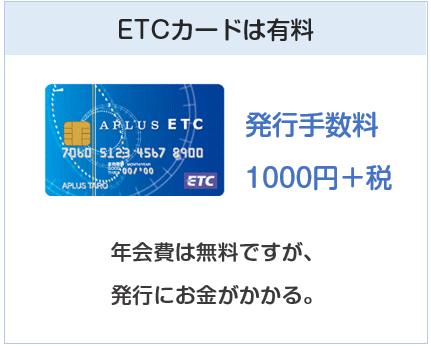 ECナビカードプラスのETCカードは有料です