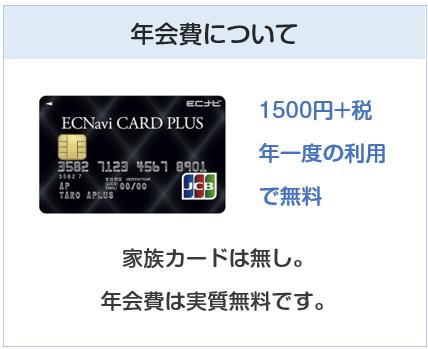 ECナビカードプラスの年会費は実質無料です
