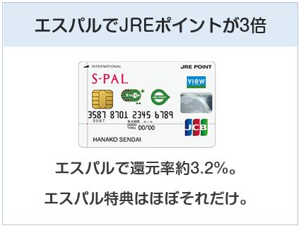 エスパルカードはエスパルでJREポイントが3倍