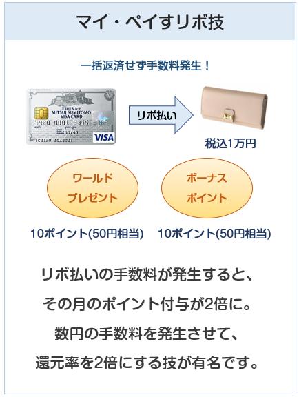 三井住友VISAクラシックカードのマイ・ペイすリボ技(還元率1%)