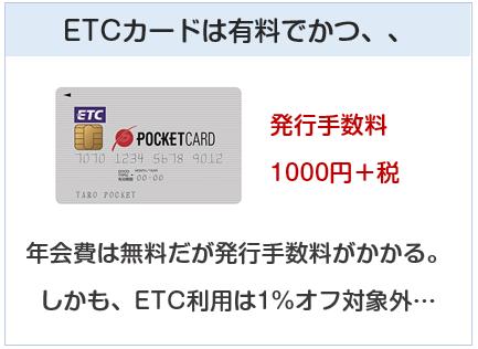P-oneカードのETCカードは有料