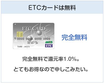ポンタプレミアムプラスのETCカードは無料です