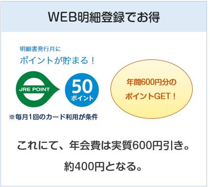 ルミネカードはWEB明細登録で、年会費は実質400円になる