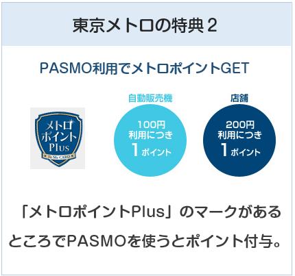 ANA To Me CARD(ソラチカカード)はPASMO利用でもメトロポイントが貯まるところがある