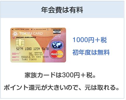 東急カードの年会費は有料です