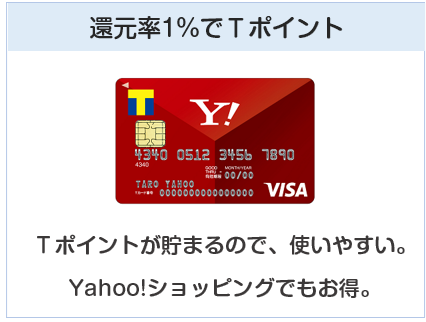 Yahoo! JAPANカードは還元率1%でTポイント