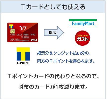 Yahoo! JAPANカードはTポイントカードとしても使える