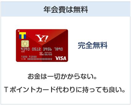 Yahoo! JAPANカードの年会費は無料