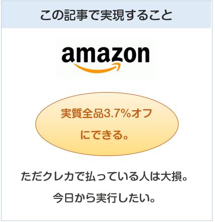 Amazonで実質毎日3.7%オフにできる