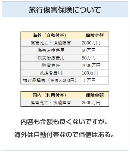 大丸・松坂屋カードの旅行傷害保険について