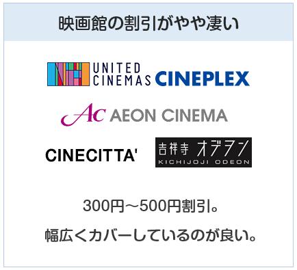 エポスカードは映画館の割引特典も凄い