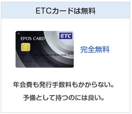 エポスカードのETCカードは無料
