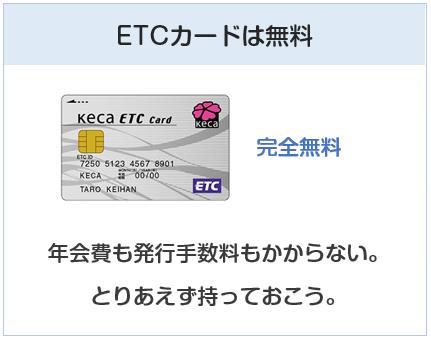 京阪カード(e-kenet VISAカードPiTaPa)のETCカードについて