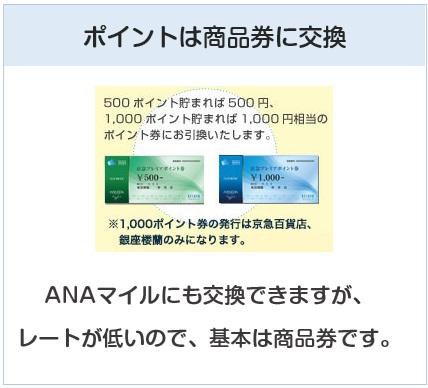 京急カード(プレミアポイントシルバー)のポイントは京急の商品券に交換可能