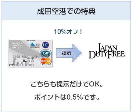 京急カード(プレミアポイントシルバー)の成田空港での特典について
