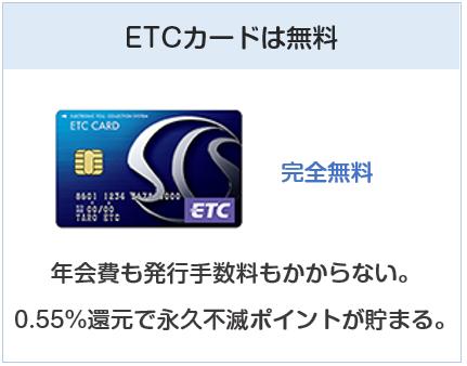 クラブ・オン/ミレニアムカード セゾンのETCカードも無料