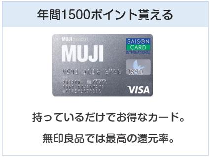 MUJIカード(無印良品カード)は無印良品にて年間1500ポイント貰えるクレジットカード
