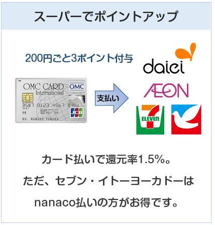 OMCカードカードはイオンなどでの利用でポイントアップ