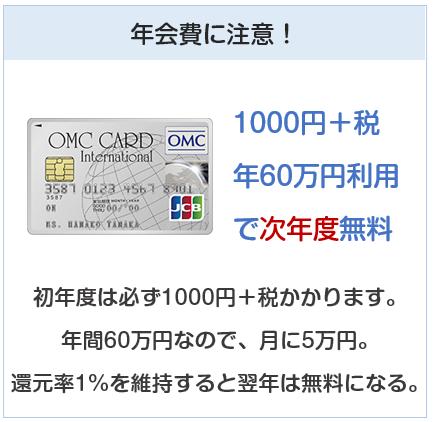 OMCカードは年会費に注意