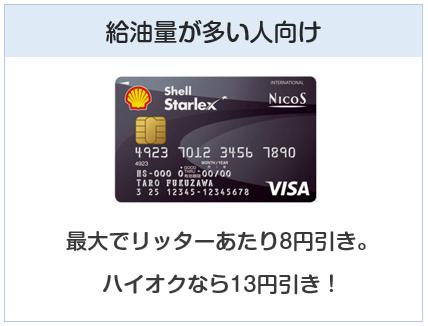 シェルスターレックスカードは給油量が多い人向けのクレジットカード