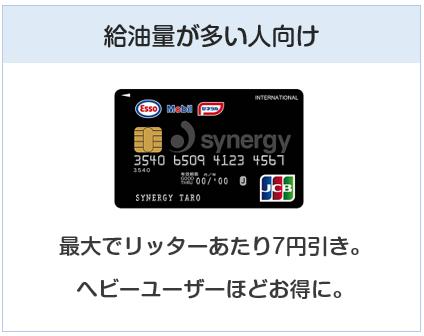 シナジーカードは給油量が多い人向けのクレジットカード
