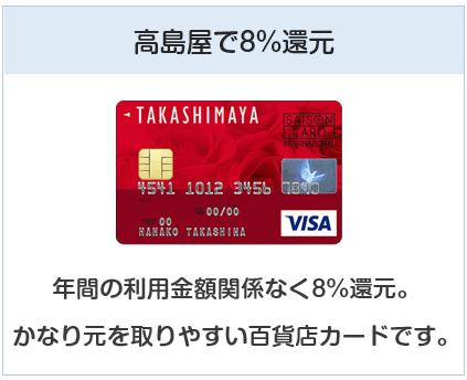 高島屋カードは高島屋で8%還元となるクレジットカード