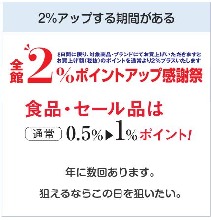 東京スカイツリー東武カードPASMOは東武百貨店でポイントアップする期間がある