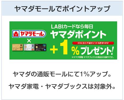 ヤマダLABI ANAマイレージクラブカードはヤマダモールでポイントアップするクレジットカード