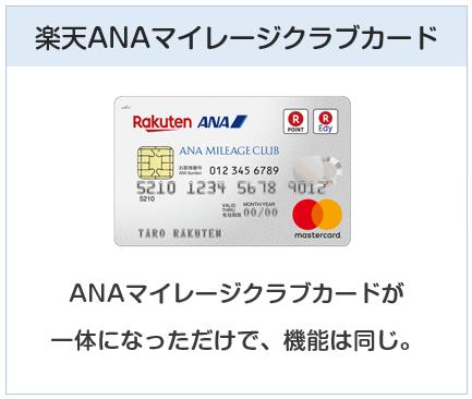楽天カードの種類3:楽天ANAマイレージクラブカード