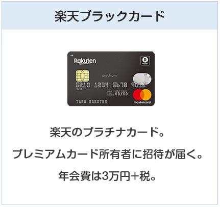 楽天カードの種類9:楽天ブラックカード