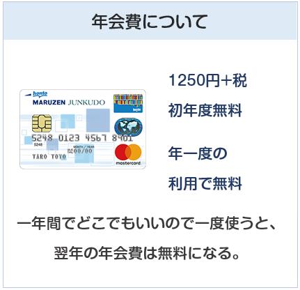 丸善ジュンク堂カードの年会費は実質無料