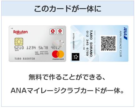 楽天ANAマイレージクラブカードは楽天カードとANAマイレージクラブカードが一体