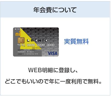 ラシックエムアイカードの年会費は実質無料のクレジットカード
