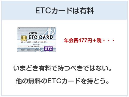 ビューカードのETCカードは有料