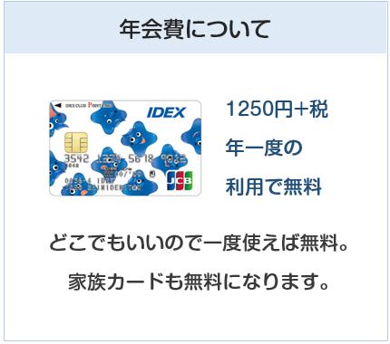 イデックスポイントクラブカードは年会費実質無料のクレジットカード
