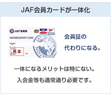 JAFカードはJAF会員カードが一体化