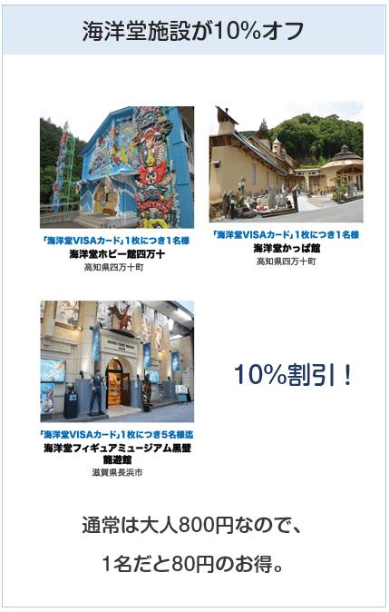 海洋堂VISAカードは海洋堂施設で入館料10%オフ